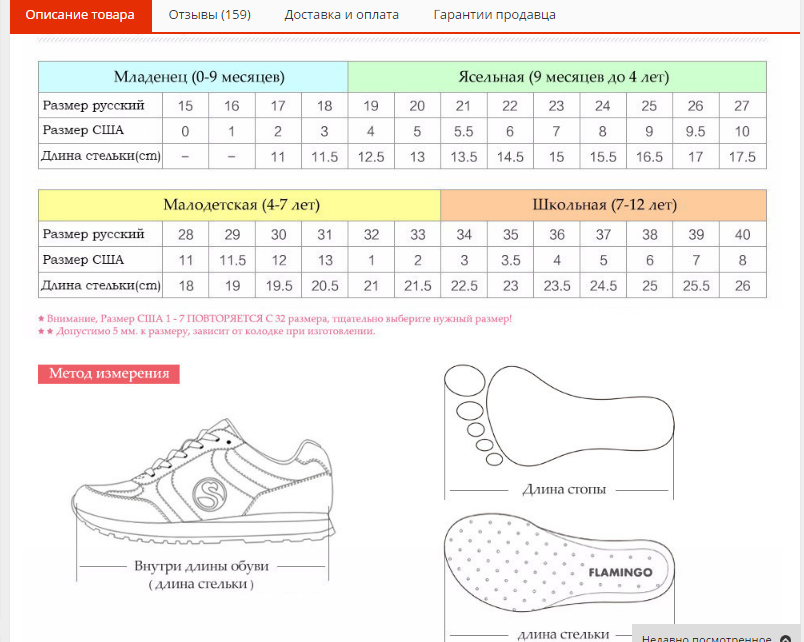Размеры обуви с алиэкспресс перевести на русские
