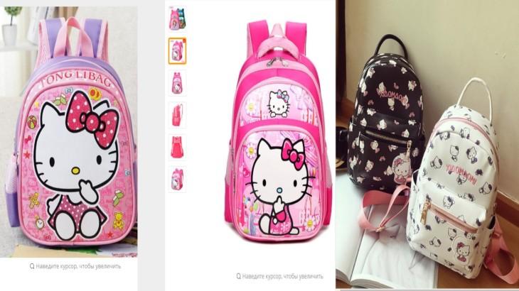 4245439b3b09 Рюкзаки и сумочки Hello Kitty могут быть выполнены как из водонепроницаемой  ткани, так и из качественной искусственной кожи. Второй вариант часто  выбирают ...
